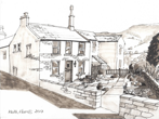 Avril and John's cottage ink drawing SOLD