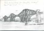 Forth Railway Bridge, pencil, 22x15 cm .