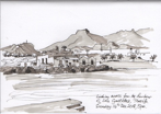 Looking Across from Las Galletas Marina, Tenerife, ink