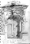 RH door of Santa Maria church, Alicante, pencil, 15x22 cm.