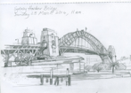 Sydney Harbour Bridge, pencil, 22x15 cm .
